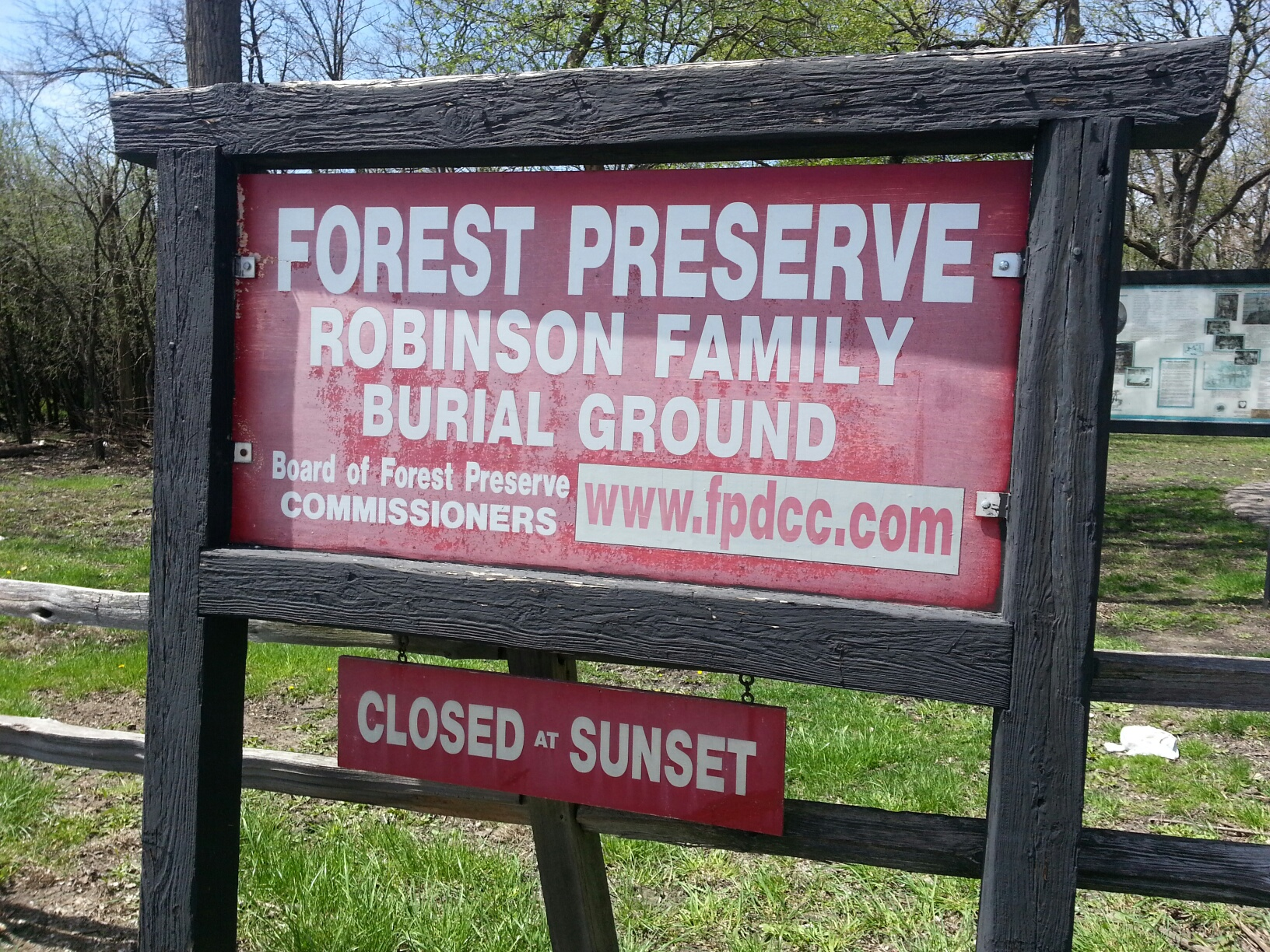 Robinson Family Burial Ground and Robinson Preserve